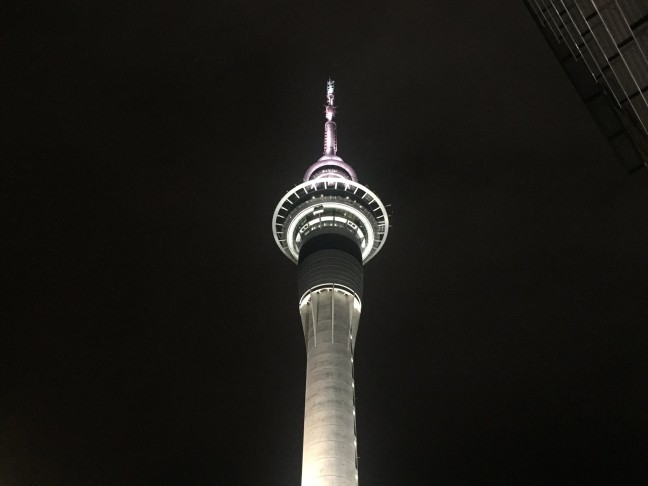 My First Night In New Zealand Under The Auckland Sky Tower