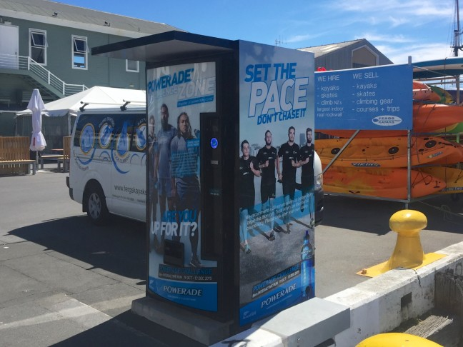 A Powerade Challenge Zone That Dispenses Drinks In Auckland And Wellington