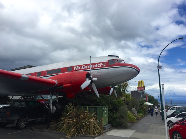 Kid's Airplane Play Area At McDonald's In Taupo