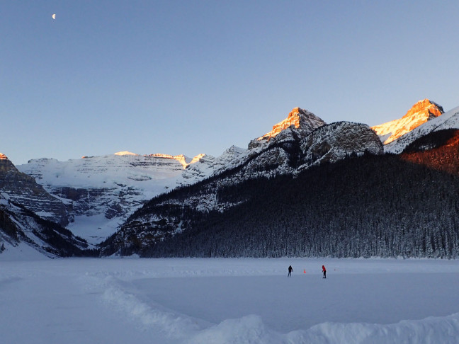 Skating Lake Louise First Thing New Year's Day
