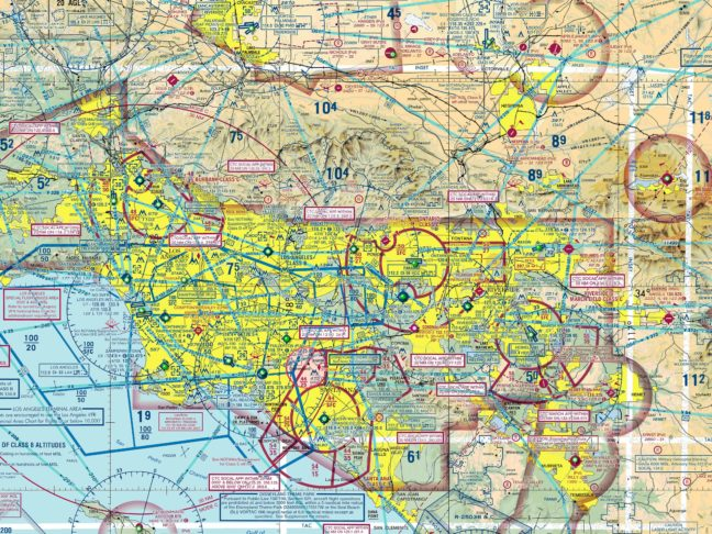 An Aeronautical Chart For Los Angeles And Orange County