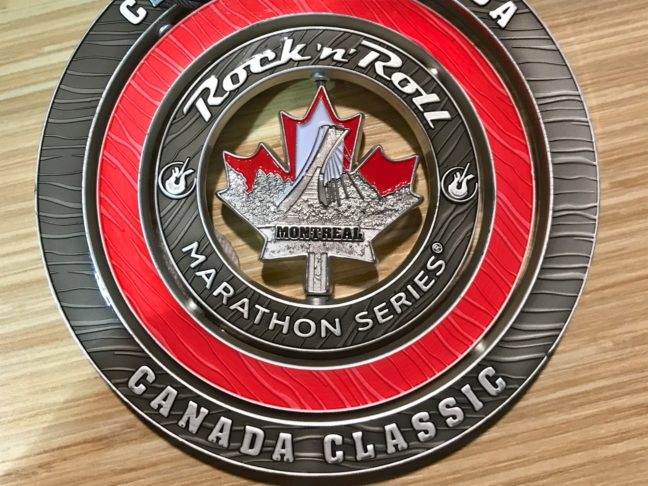 The Rock 'n Roll Medal For Competing In Both The Vancouver And Montreal Marathons
