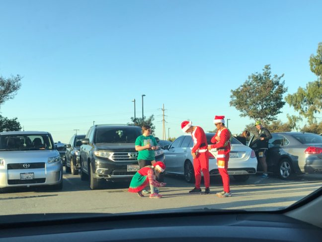 A Few Santas And Elves Also Attended The Orange Country 5k Turkey Trot