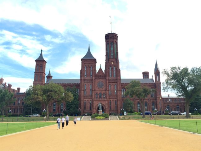 The Smithsonian Institution Castle In Washington DC