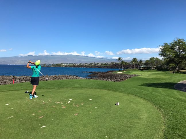 Teeing It Off At The Mauna Lani Golf Course On Big Island