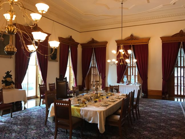 Getting Ready For Supper At The Kamehameha's Iolani Palace