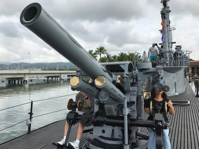 Ayano Setting The Guns On The USS Blowfish