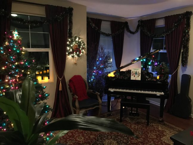 Our Music Room Over Christmas...
