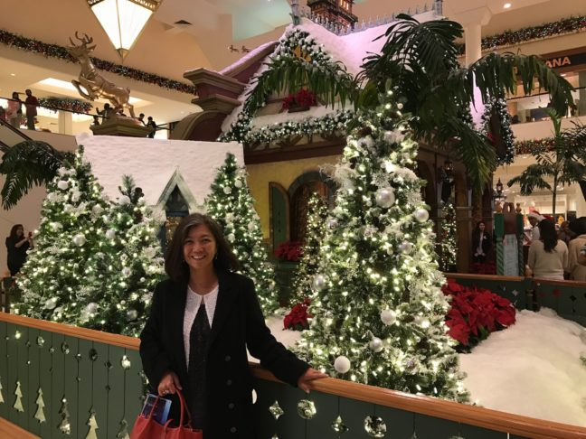 After Seeing Scrooge We Visited South Coast Plaza To See The Decorations