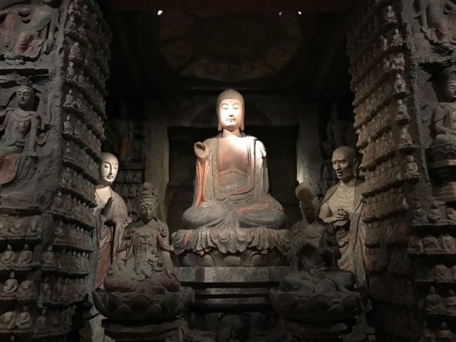 A Buddha At The Tang Dynasty Exhibit In The Shaanxi Provincial Museum
