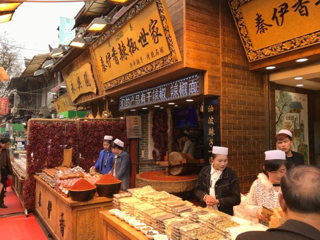 A Spice Store Located In The Muslim Quarter Of Xi'an