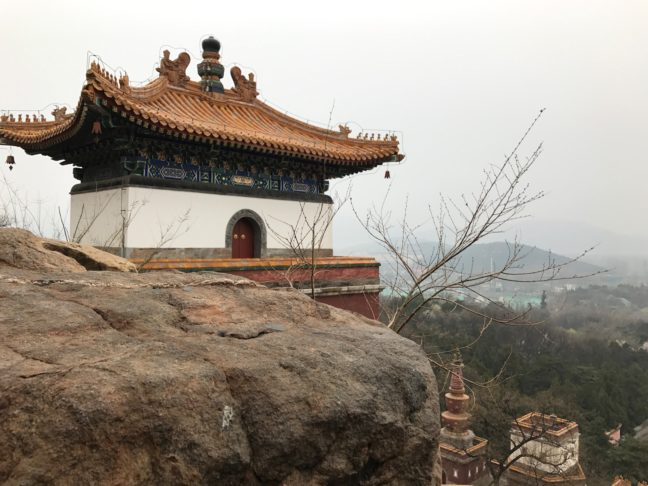 A Cloudy Day On Top Of Longevity Hill At The Summer Palace