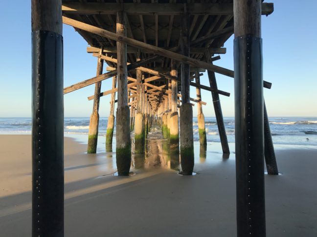 Under The Pier At Newport Beach