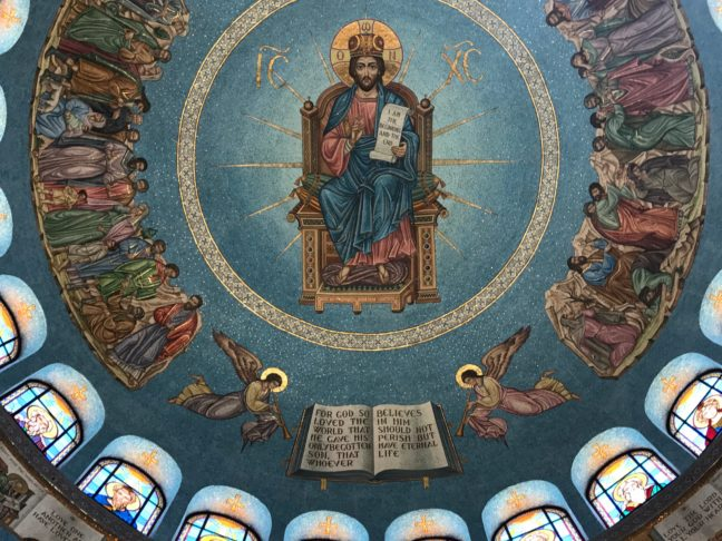 The Ceiling Of The Greek Orthodox Church In Irvine