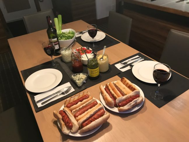 Gourmet Hotdogs With Wine!
