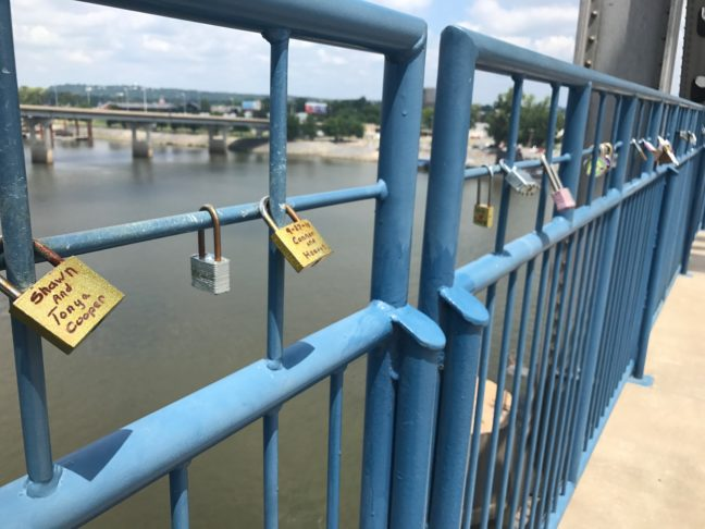 Love Locks On Junction Bridge